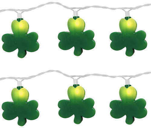 Brite Star 10 Light St. Patrick Clover String Light