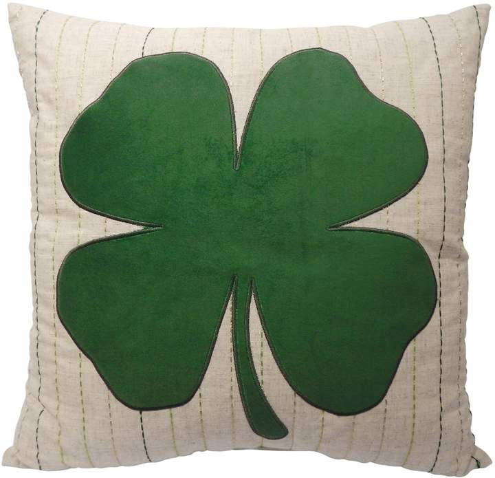 Celebrate St. Patricks Day Together Celebrate St. Patrick's Day Together Clover Applique Throw Pillow