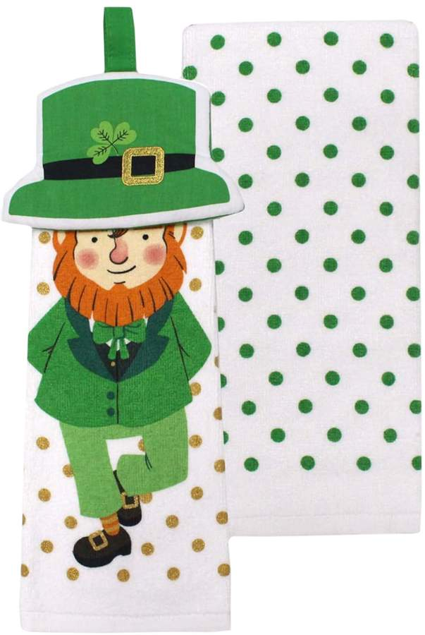 Celebrate St. Patricks Day Together Celebrate St. Patrick's Day Together Leprechaun Tie-Top Kitchen Towel 2-pk.