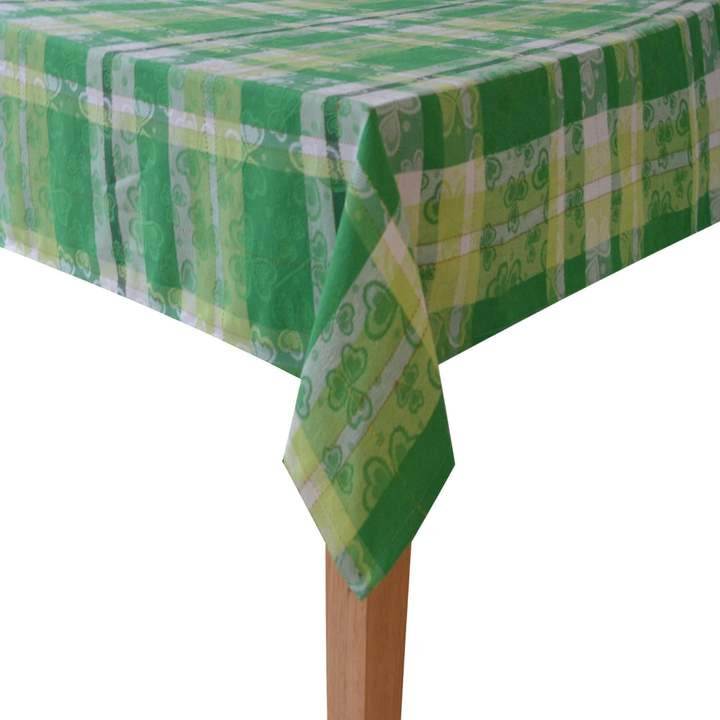 Celebrate St. Patricks Day Together Celebrate St. Patrick's Day Together Shamrock Tablecloth