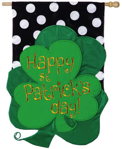 Evergreen Enterprises, Inc St. Patrick Clover Traditional Flag