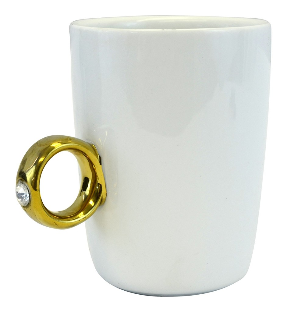 Fairly Odd Novelties Engagement 2 Carat Solitaire Ring Mug 2