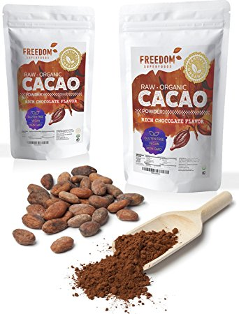 Freedom Superfoods Organic Raw Cacao Powder