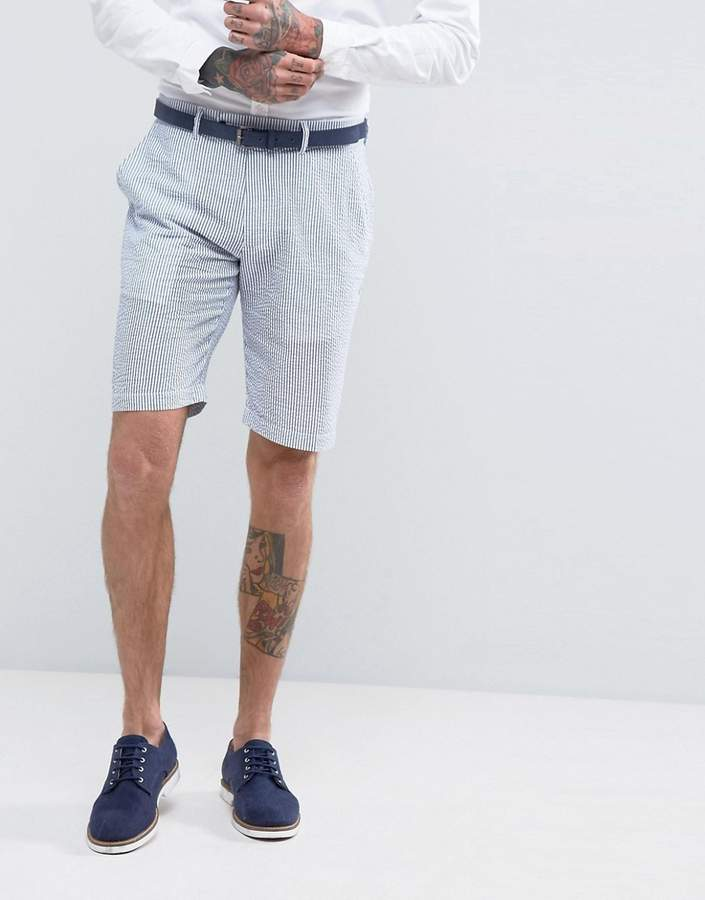 Gianni Feraud Pastel Stripe Seersucker Shorts