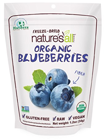 Natierra Nature's All Foods Organic Freeze-Dried Blueberries