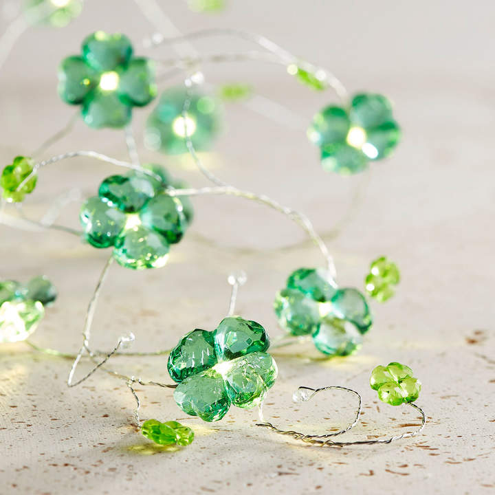 Pier 1 Imports St. Patrick's Day Jewel Clover 10' LED Glimmer Strings