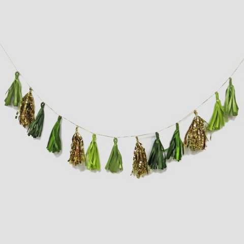 Threshold Tinsel Garland GreenGold 60