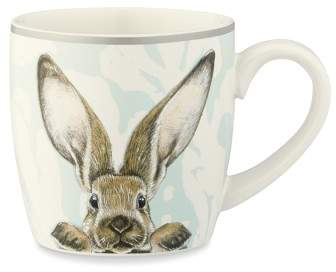 Williams Sonoma Damask Easter Bunny Mug