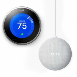 03 Nest Learning Thermostat (3rd Generation) + Google Home Mini Bundle