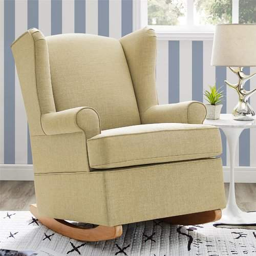 Harriet Bee Bender Wingback Rocking Chair