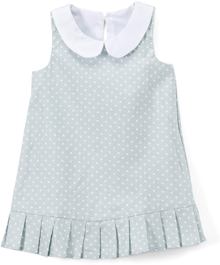 Gray Polka Dot Flapper Dress
