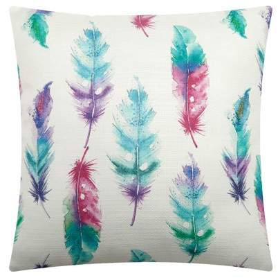 Mainstays Colorful Feather Throw Pillow