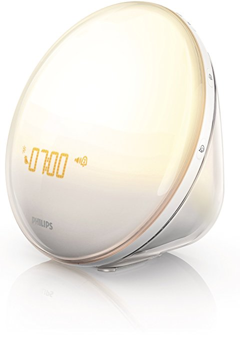 Philips Wake Up Light Alarm Clock with Colored Sunrise Simulation and Sunset Fading Night Light