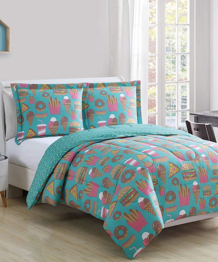 Jade and Pink Snack Attack Comforter Set