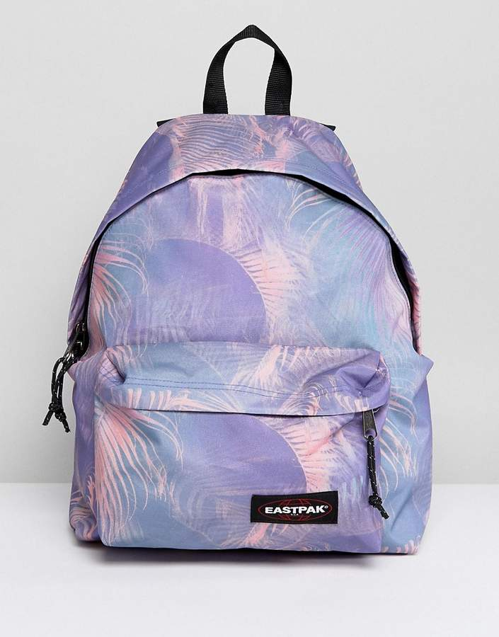 Eastpak Padded Pak'r Backpack in Pink Multi Print