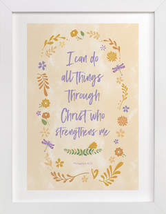 Christ Who Strengthens Me Art Print