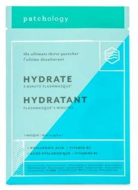 Patchology Hydrate FlashMasque 5 Minute Facial Sheets, 4 Pack