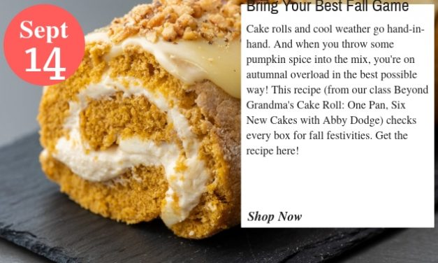 With This Pumpkin Spice Cake Roll