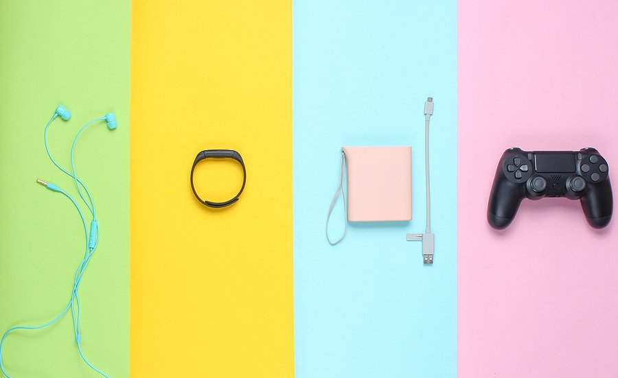 pastel-colored gadgets, pastel gift ideas